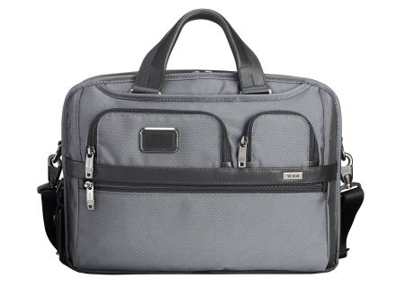 Tumi Alpha 2 Pewter T-Pass Medium Screen Laptop Slim Brief - 103798-1688