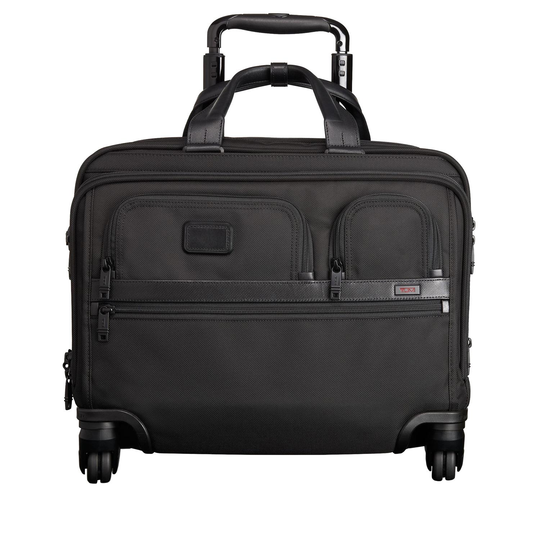 Tumi Alpha 2 Black 4 Wheeled Brief Laptop Case 026627d2