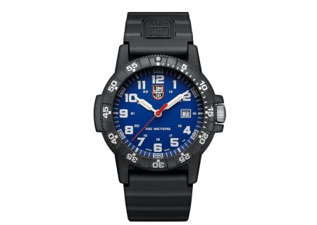 Luminox Leatherback Sea Turtle Giant 0320 Series Black Strap Blue Dial Mens Watch - 0323