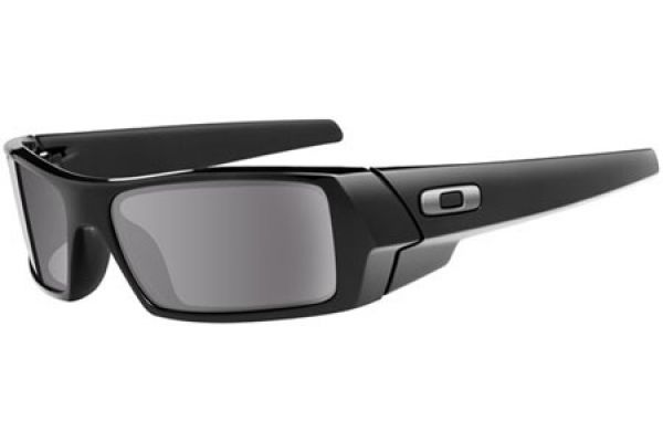 Oakley Gascan Wrap Sunglasses Polished Black/Grey - 03-471