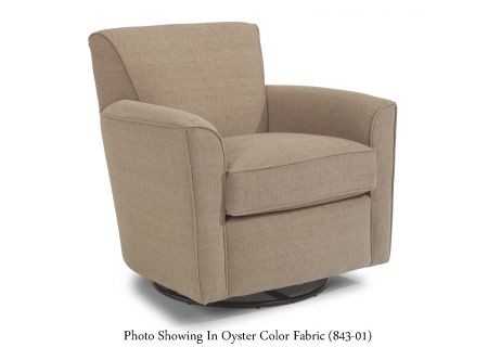 Flexsteel Kingman Cream Fabric Swivel Glider - 036C-13-145-11