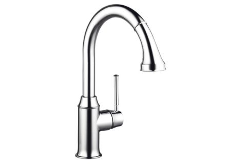 Hansgrohe Talis C Steel Optik High-Arc Kitchen Faucet - 04215800