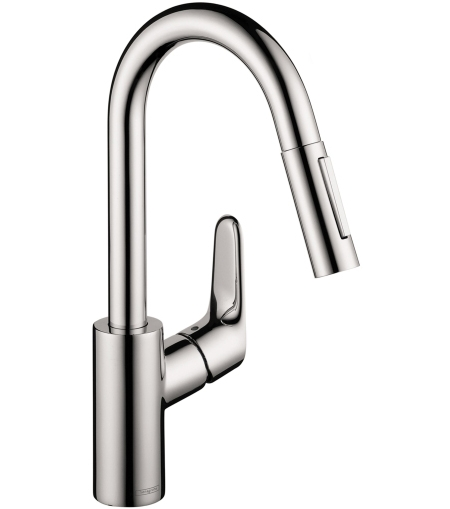 hansgrohe focus higharc prep kitchen faucet 04506001. Black Bedroom Furniture Sets. Home Design Ideas