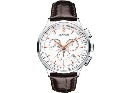 Movado Circa Chronograph Brown Mens Watch - 0606576