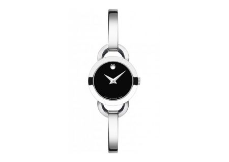 Movado Rondiro Stainless Steel With Black Museum Dial Women - 0606796