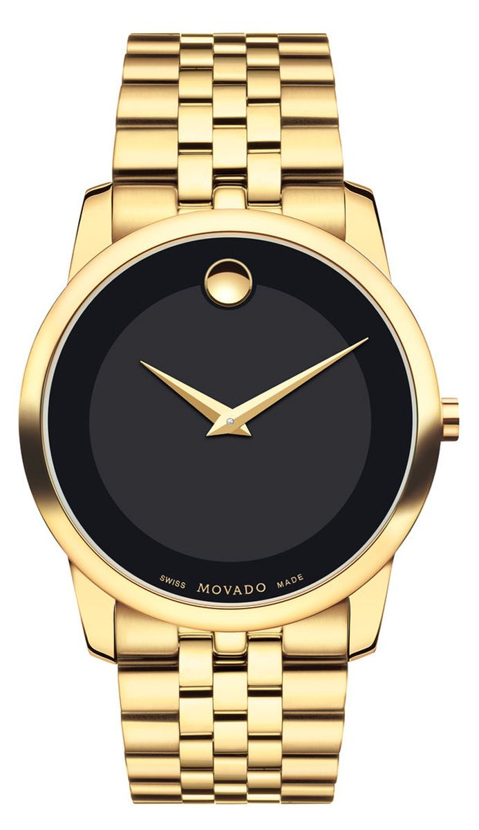 movado museum classic yellow gold mens watch 0606997 main image