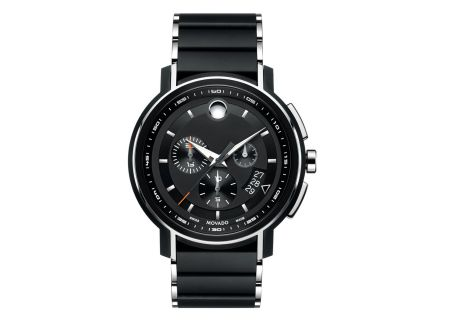 Movado Strato Chronograph Stainless Steel And Black PVD Mens Watch - 0607006