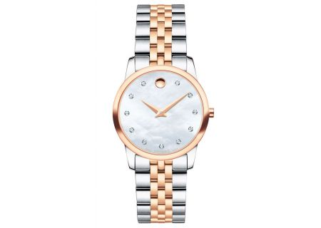 Movado Museum Classic 28mm Two Tone Rose Gold And Stainless Steel Womens Watch  - 0607077
