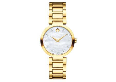 Movado Modern Classic Yellow Gold Womens Watch - 0607105