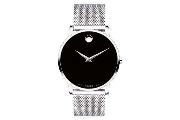 Large image of Movado Museum Classic 40mm Stainless Steel Mens Watch - 0607219
