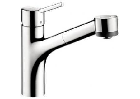 Hansgrohe Talis S Chrome 2-Spray Pull Out Kitchen Faucet - 06462000