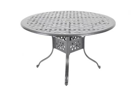 """Veranda Classics Carmen 48"""" Round Cast Aluminum Dining Table - 09848622X000"""