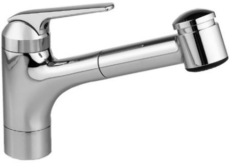 "KWC Domo Series 9"" Pull Out Spray Splendure Stainless Steel Kitchen Faucet - 10.061.033.127"
