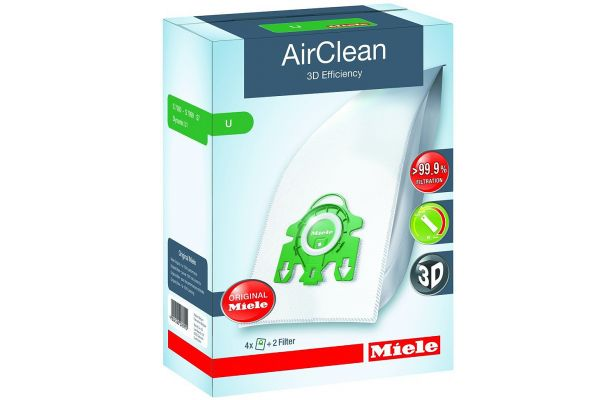 Large image of Miele AirClean 3D Efficiency Dustbags Type U - 10123230
