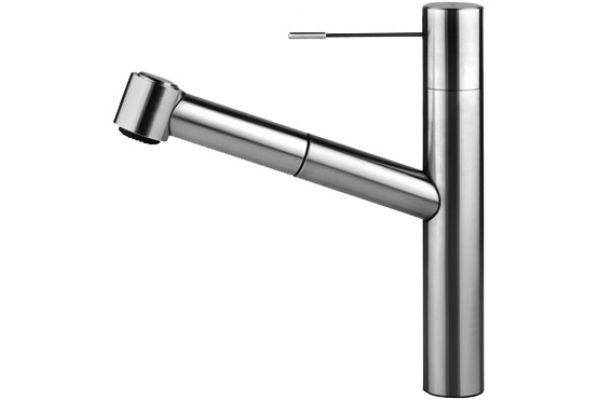 Large image of KWC Ono Series Pull-Out Spray Stainless Steel Kitchen Faucet - 10151033700