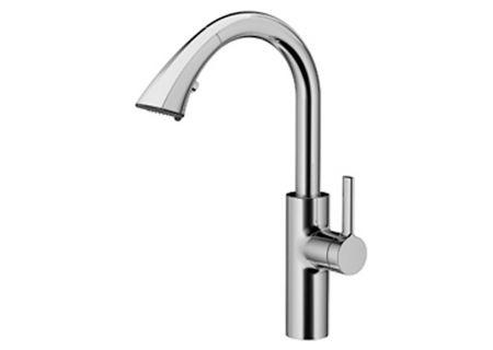 KWC Saros Splendure Stainless Steel Single-Lever Mixer with Pull-Down Spray Kitchen Faucet - 10.181.002.127
