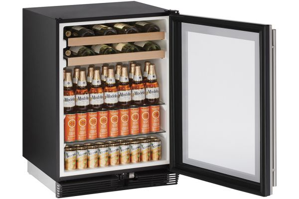 "U-Line 24"" Reversible Door Beverage Center - U-1024BEVS-00B"