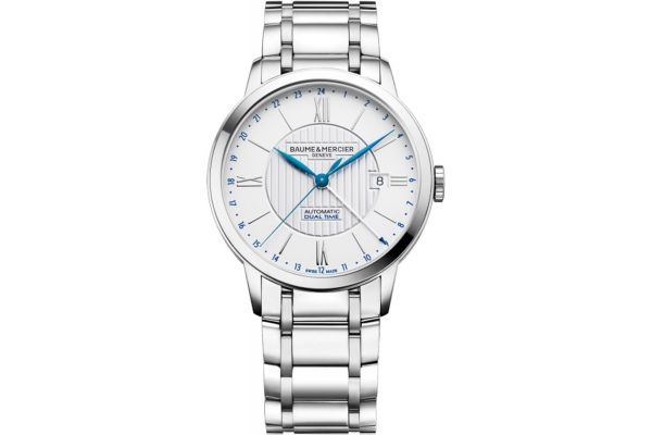 Large image of Baume & Mercier 40mm Classima Silver Dial Mens Watch - 10273