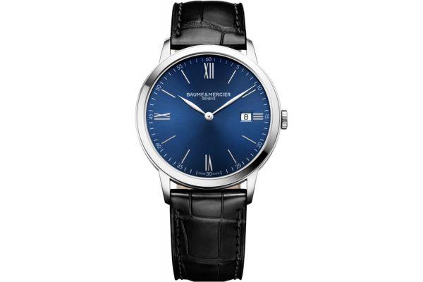 Baume & Mercier 40mm Classima Blue Dial Mens Watch - 10324