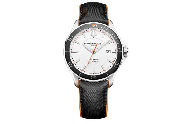 Baume & Mercier 42mm Clifton Club Black Dial Mens Watch - 10337