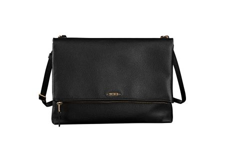 Tumi Voyageur Black Misty Leather Crossbody - 103388-1041