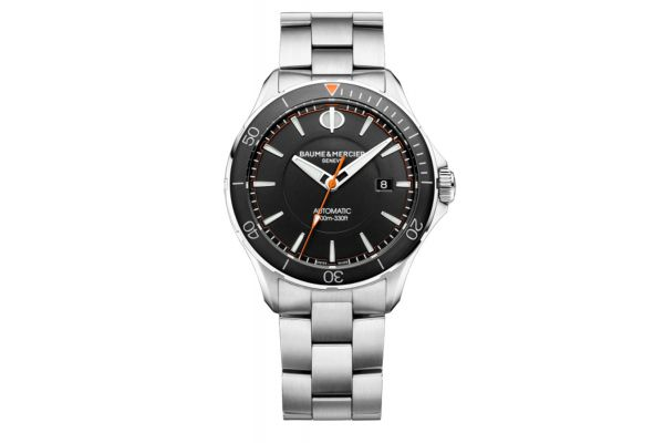 Large image of Baume & Mercier 42mm Clifton Black Dial Mens Watch - 10340