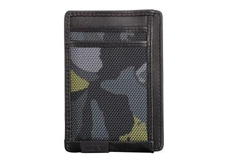 Tumi Alpha ID Lock Green Camo Money Clip Card Case  - 103514-T619