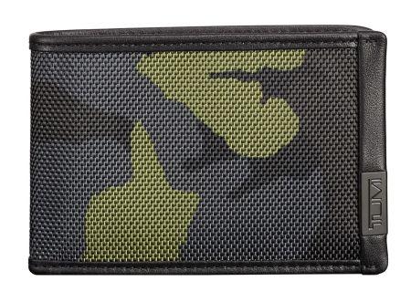 Tumi Alpha ID Lock Green Camo Slim Single Billfold - 103531-T619