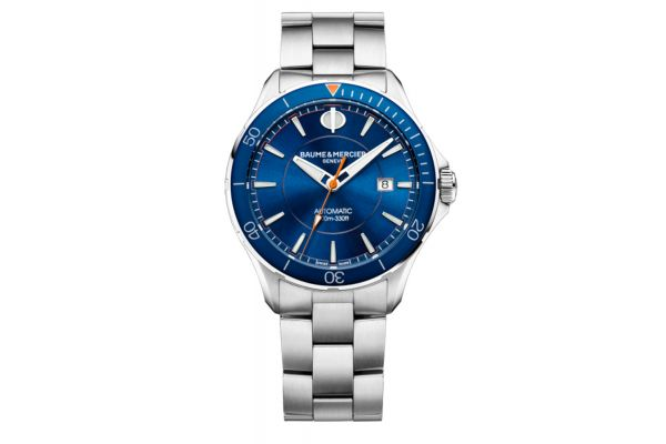 Baume & Mercier 42mm Clifton Blue Dial Mens Watch - 10378
