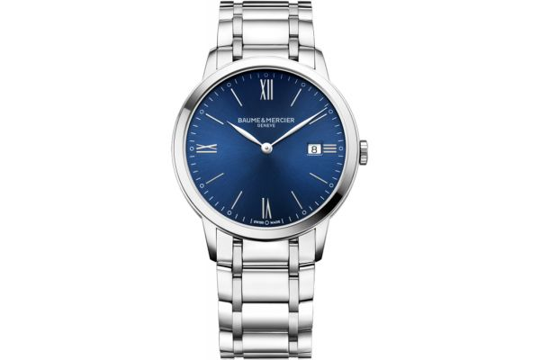 Large image of Baume & Mercier 40mm Classima Blue Dial Mens Watch - 10382
