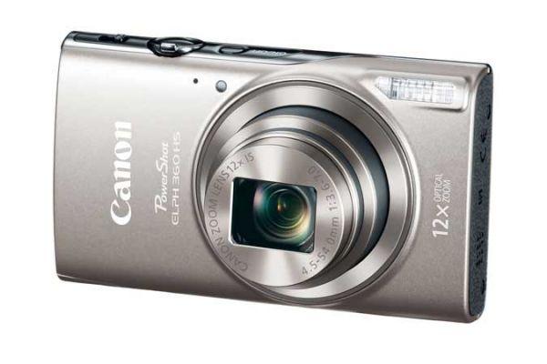 Large image of Canon Powershot ELPH 360 HS Silver Digital Camera - 1078C001