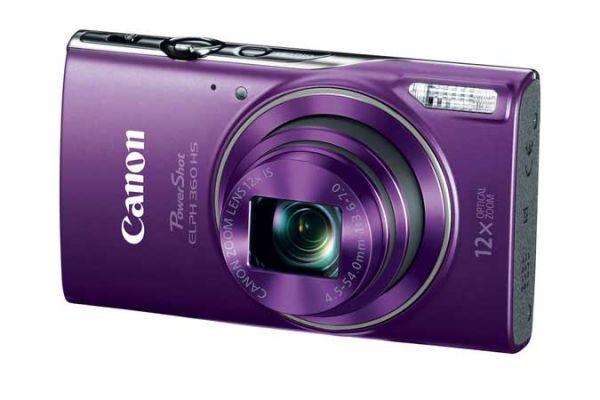 Large image of Canon Powershot ELPH 360 HS Purple Digital Camera - 1081C001