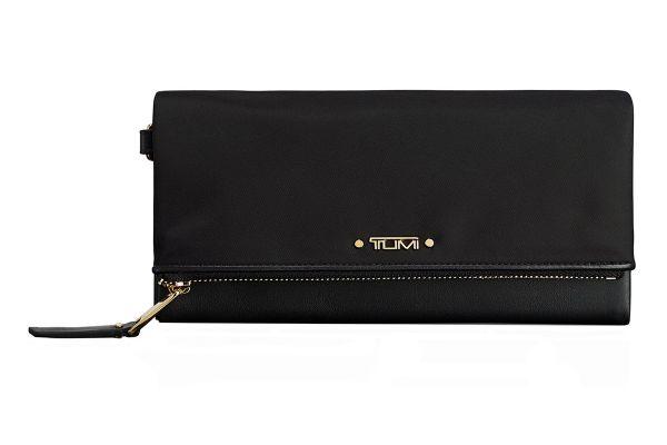 Large image of TUMI Voyageur Black Flap Continental Wallet - 1100341041
