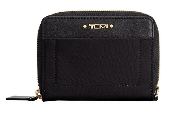 Large image of TUMI Voyageur Black Tri-Fold Zip-Around - 1100371041