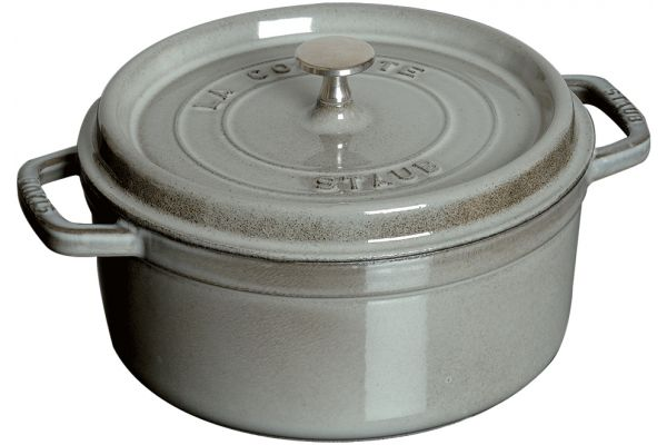 Large image of Zwilling J.A. Henkels Staub 7Qt Graphite Grey Round Cocotte - 1102818