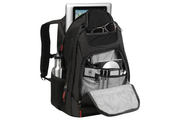 "Large image of Ogio Black Backpack For 17"" Laptops - 111078.03"