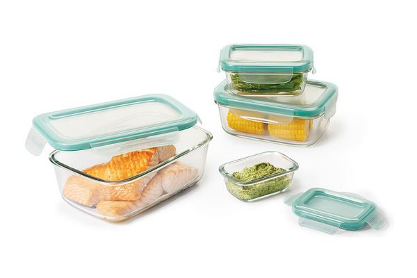 Large image of OXO Good Grips 8 Piece SNAP Glass Rectangle Container Set - 11179400