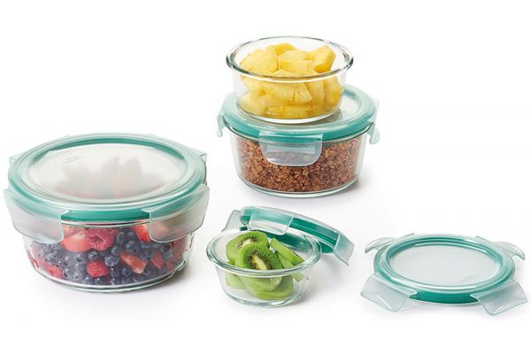 Large image of OXO Good Grips 8 Piece SNAP Glass Round Container Set - 11179500