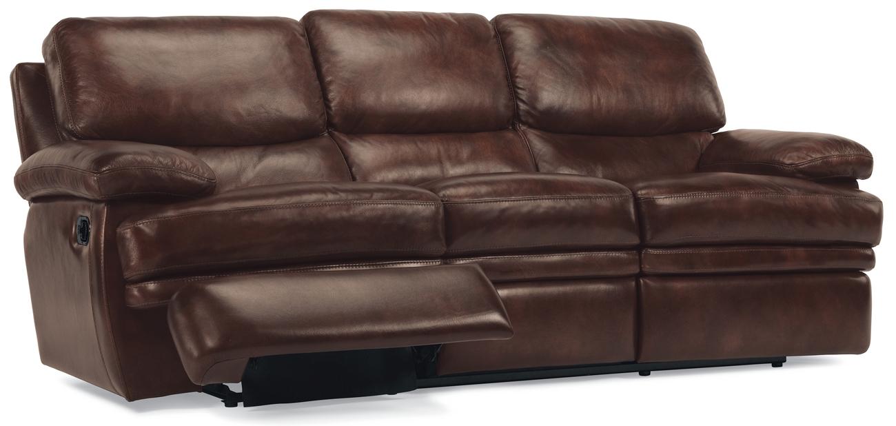 Flexsteel Dylan Leather Reclining Sofa 11276290872
