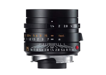 Leica Black Summilux-M 35mm f/1.4 ASPH Lens For Leica M-Series Cameras - 11663