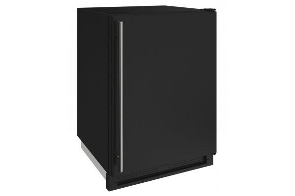 "U-Line 1000 Series 24"" Black Solid Convertible Freezer - U-1224FZRB-00A"
