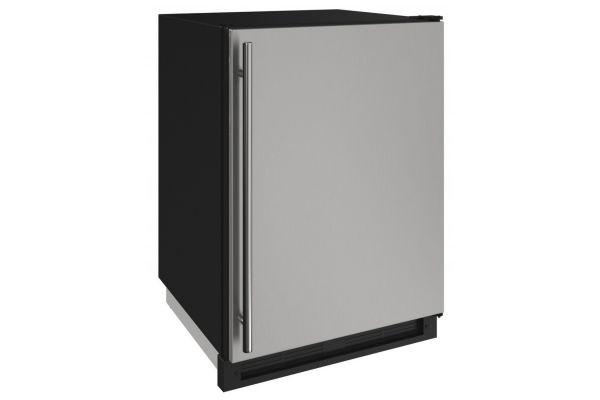 "U-Line 1000 Series 24"" Stainless Solid Convertible Freezer - U-1224FZRS-00A"