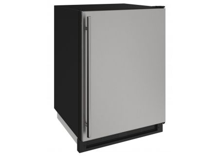 "U-Line 1000 Series 24"" Stainless Solid Outdoor Convertible Freezer - U-1224FZRSOD-00A"