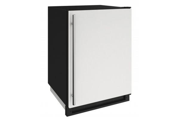 "U-Line 1000 Series 24"" White Solid Convertible Freezer - U-1224FZRW-00A"
