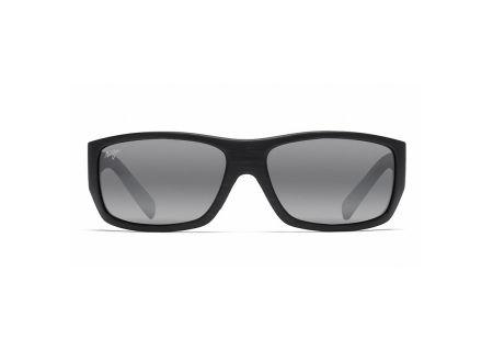 Maui Jim Wassup Matte Black Woodgrain Mens Sunglasses - 123-02W