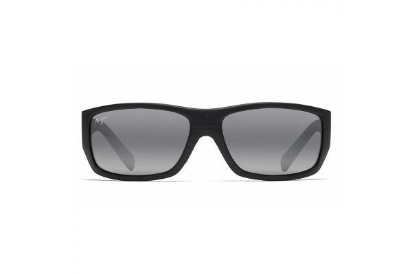 Large image of Maui Jim Wassup Matte Black Woodgrain Mens Sunglasses - 123-02W