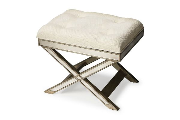 Large image of Butler Specialty Company Marlo Mirrored Vanity Stool - 1253146