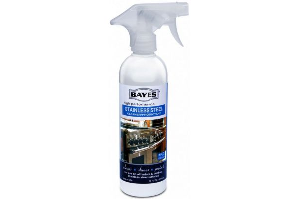 Large image of Bayes Premium Stainless Steel Cleaner, 16 oz. - 125L