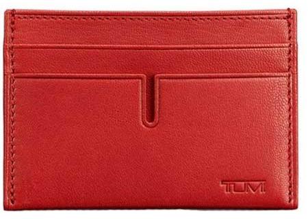 Tumi Chambers Crimson Slim Card Case - 12659 - Crimson
