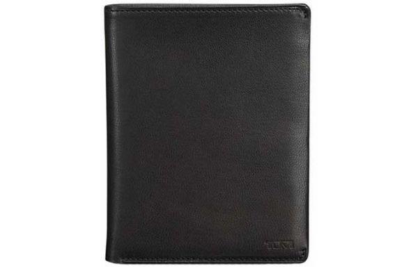 Tumi Chambers Black Leather Passport Case - 12671 - Black